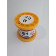 Припой  ПОС-61 в катушке с канифолью d=0,8мм 100гр