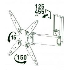 Кронштейн для TV наклонно-поворотный MART 407A