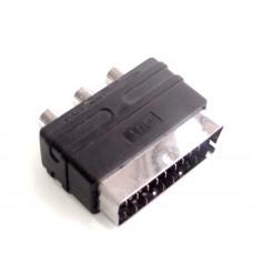 переходник штекер scart - 3 гнезда под RCA (OUT)