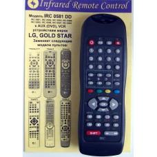 Пульт IRC 0581 DD (0581/0582/0583/0584/0585/0586/0587/0561) LG, GOLD STAR AUX(DVD),VCR